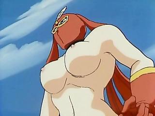 woman-warrior fighting nude