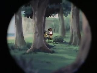 manga guy spying two