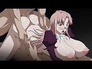 manga brunette takes massive
