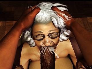 black granny face fucked